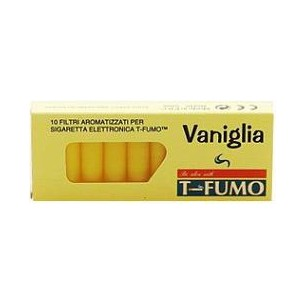 T-FUMO - Flavoured Filters For Electronic Cigarette T Fumo 10 Pieces Vanilla