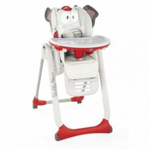 Polly 2 Start - 4 wheels high chair Baby Elephant