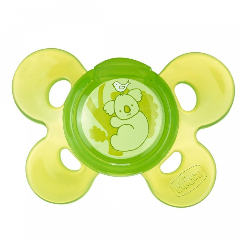 Chicco - physio comfort soother in silicone 16-36m green
