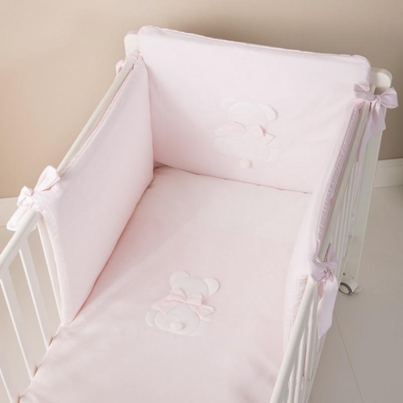 Nanan - Set Duvet Bed Pink Bow 4 Pieces