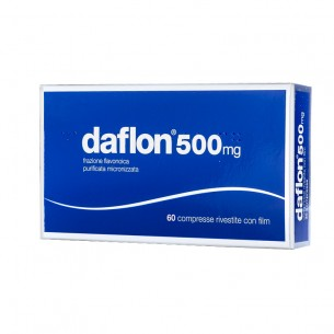 Daflon 500 mg - treatment of venous insufficiency 60 coated tablets