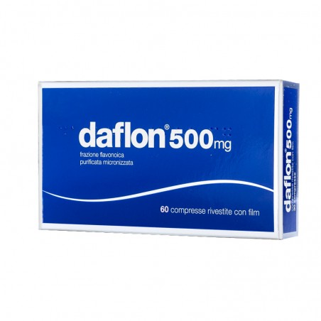 SERVIER - Daflon 500 mg - treatment of venous insufficiency 60 coated tablets