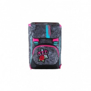Roses Girl - reversible backpack - black and rose color