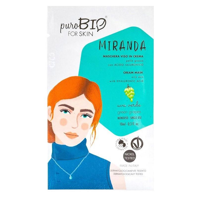 Purobio - Miranda Maschera viso per Pelle Grassa profumazione uva