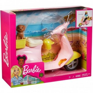 Barbie Scooter with dog and helmet