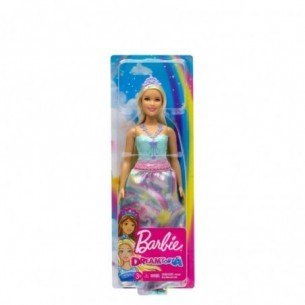 Dreamtopia Princess Barbie doll blonde with Blue Dress and Tiara
