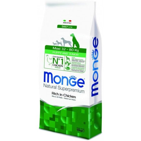 MONGE - natural superpremium puppy&junior maxi- dry food for big sized puppies12kg