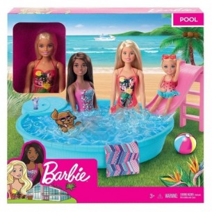 Barbie with pool - Playset