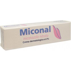 Miconal 2% Dermatologic Cream - Skin and nail infections by dermatophytes or Candida 30 g