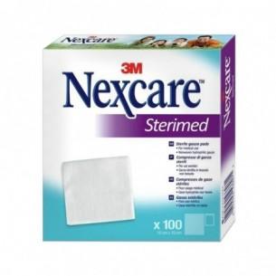 Sterimed - 100 sterile gauze pads size 10 cm X 10 cm