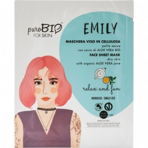 Emily Relax and fun - dry skin cellulose face mask for 15 ml