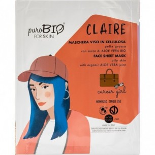 Claire Career Girl - Oily skin cellulose face mask 15 ml