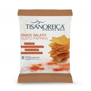 salty snack with paprika flavour chips 25 g