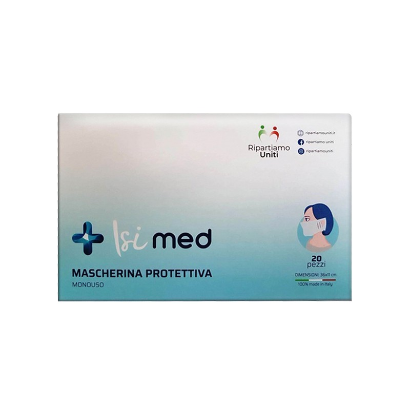 ITALIAN WORLD - Isi med - 20 disposable protective masks