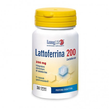 LONGLIFE - Lattoferrina 200 - Immune Support Supplement 30 capsules