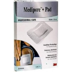 Medipore + Pad Sterile Dressing In Nonwoven Absorbent Pad 10x15 Cm 5Pcs