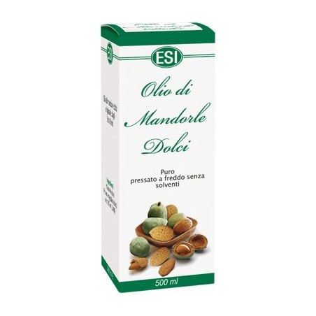 ESI - Sweet Almond Oil Cold Pressed Without Solvents 100% Naturale 500 Ml