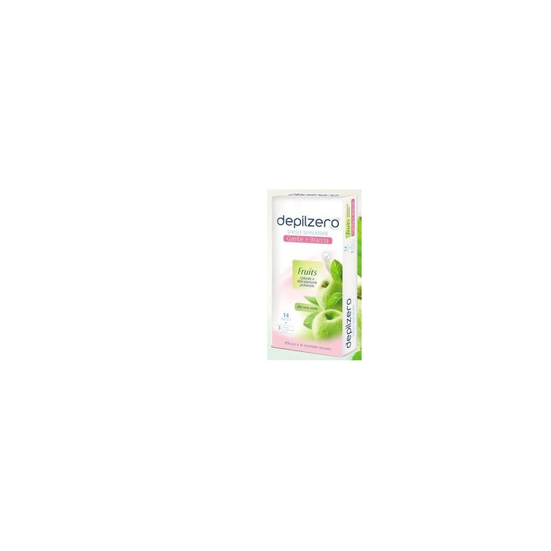 DEPILZERO - Depilatory Strips Legs And Arms Fruits 14 Strips