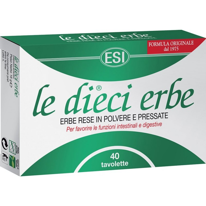 ESI - Supplement Le Dieci Erbe - 10 Herbs 40 Tablets