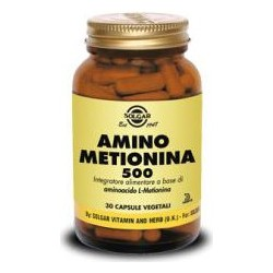 L-Methionine 500 Mg Vegetable Capsules - 30 Capsules