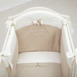 Set Duvet Bed Line Drawn Beige 4 Pieces