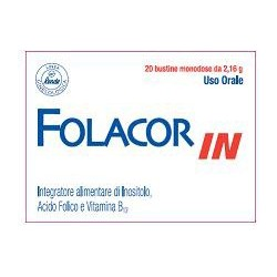 Supplement Folacorin With Inositol And Folic Acid 20 Sachets