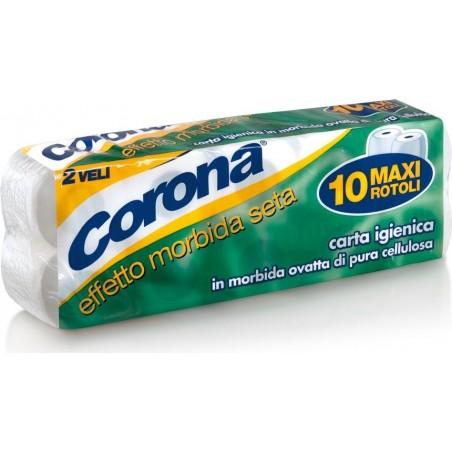 CORONA - Carta igienica in morbida ovatta di pura cellulosa 10 rotoli