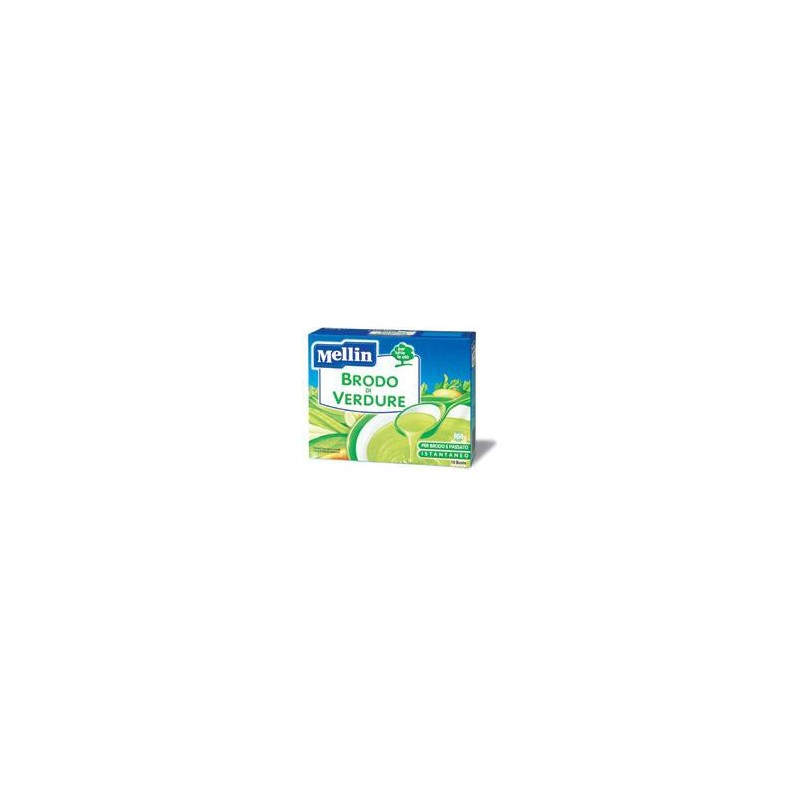 MELLIN - Vegetable Broth 10 Envelopes 8 Gr