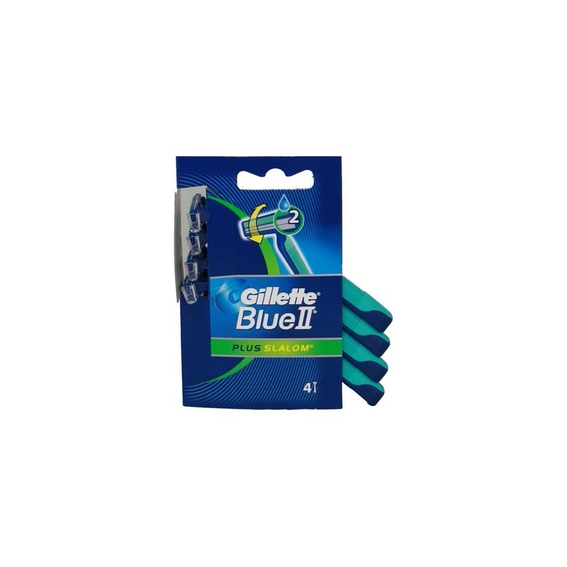 GILLETTE - Blu 2 Slalom Plus Razor Diponsable 1 Pack Of 4 Blades