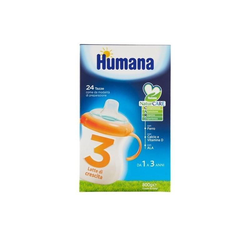 HUMANA - Growing Up Milk Children Powder Indicated 3 Years Junior Drink 800 Gr