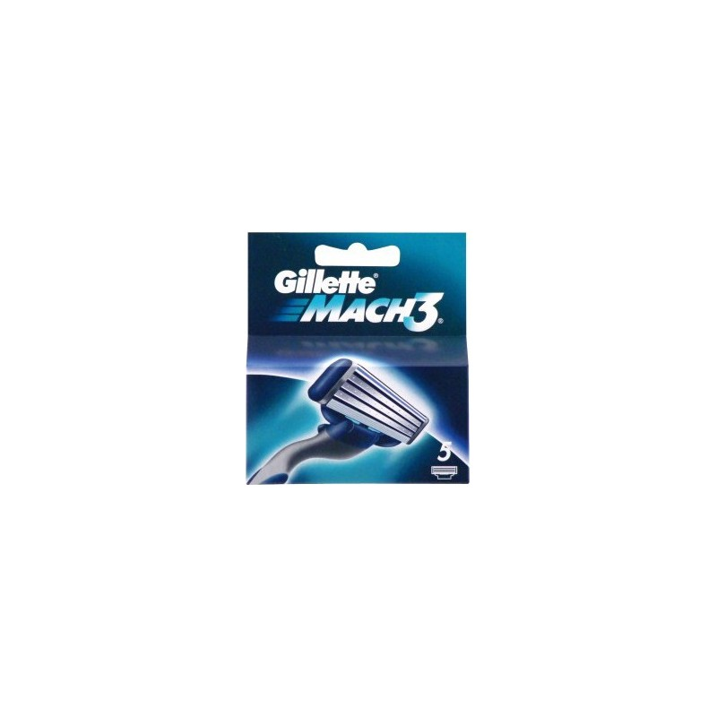 GILLETTE - Mach 3 Blades Of Change For Razor 1 Pack Of 5 Blades