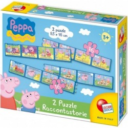 Peppa Pig 2 Puzzle Story Telling 3 Years +