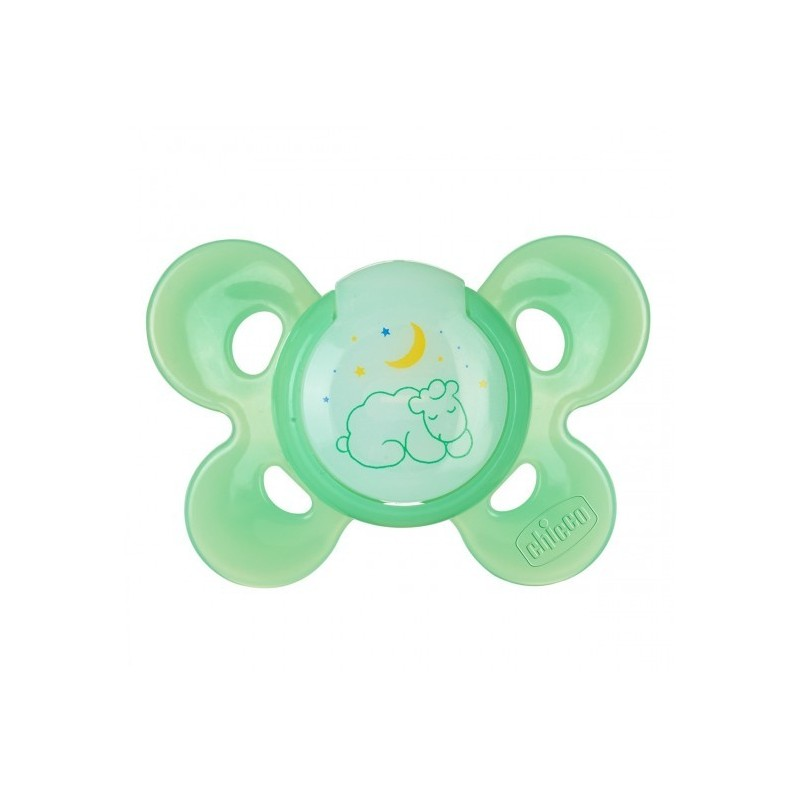 Chicco - Physio Comfort Night 16-36m - Rubber soother - assorted colors