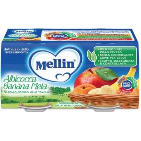 MELLIN - Homogenised Apple Apricot Banana 100G X 2 Pots