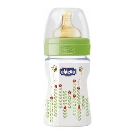 Chicco - Wellbeing Pp Feeding Bottle Green 150Ml Latex Teat 0M+ Regular Flow