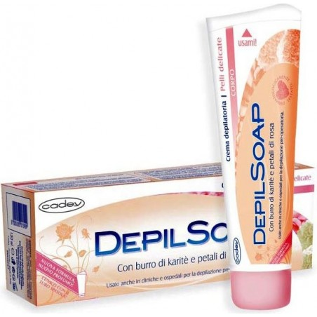 DEPILSOAP - Depilatory Cream Body Butter Karite' Sensitive Skin 150Ml