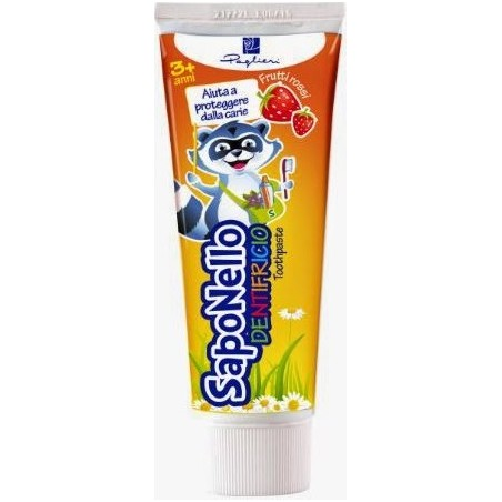 SAPONELLO - Children Toothpaste Taste Red Fruits 3 Years + 75 Ml