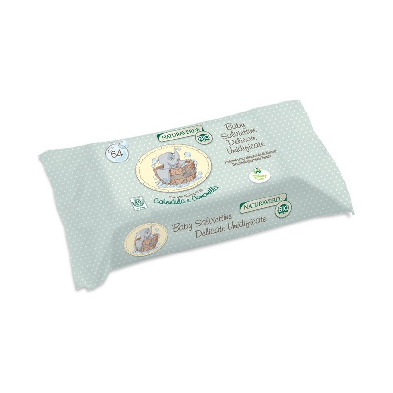 Naturaverde - Bio Organic Delicate Wipes 64 Pieces