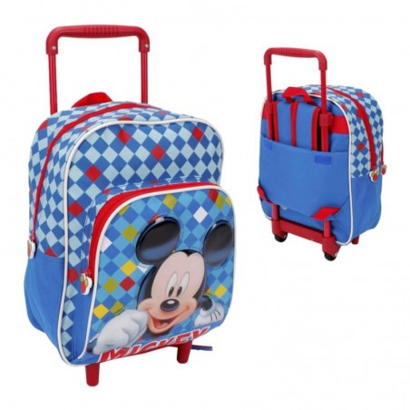 DISNEY - Backpack Trolley For School Mickey Mouse 29 cm