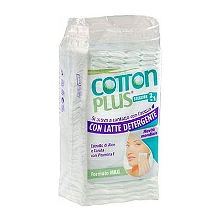 COTTON PLUS - Cotton Pads Solution 2In1 Cleansing Milk And Aloe 50 Maxi Pads