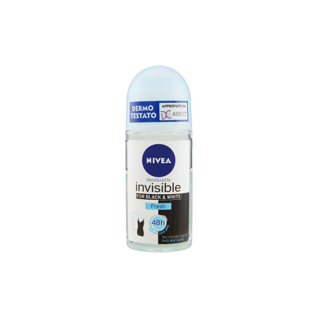 NIVEA - Invisible for Black & White Fresh - Roll-On Deodorant 50 ml