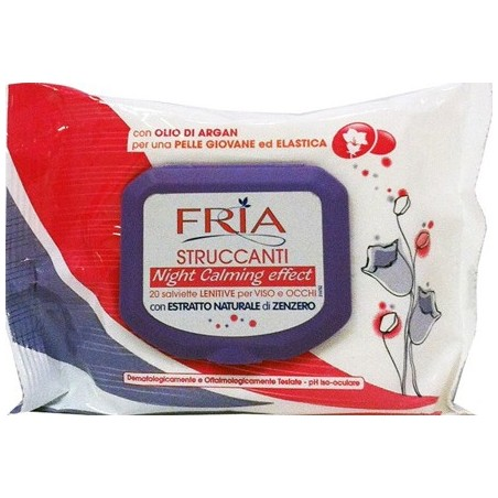 Fria - Night calming effect cleansing wipes with argan oil 20 pcs