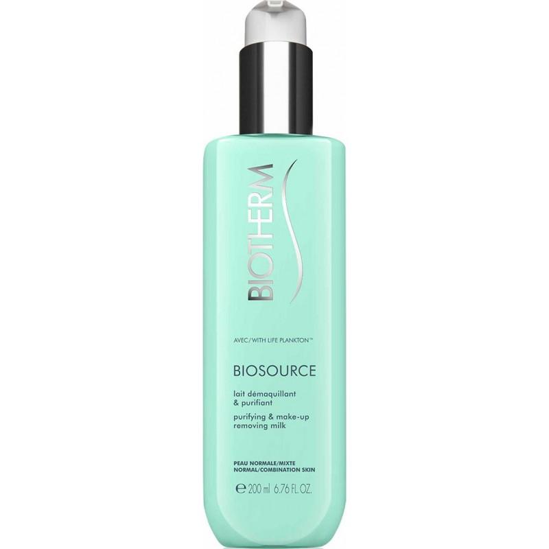 BIOTHERM - biosource purifying & make-up removing milk 200 ml