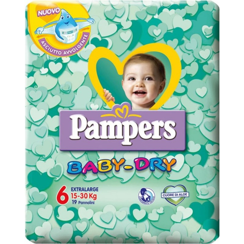 Pampers - Baby Dry nappies extra large size 6 (15-30 kg) 19 pcs
