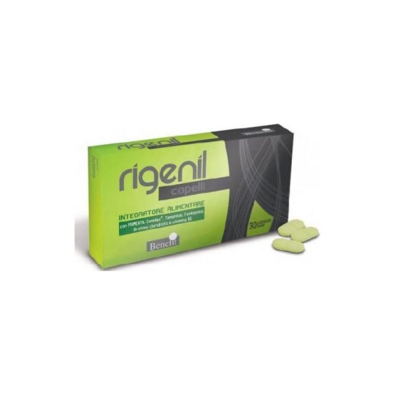 BENEFIT - Supplement Rigenil To Counteract The Aging Hair 30 Tablets