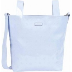 Shoulder Bag Pram Bag Light Blue Patent Leather