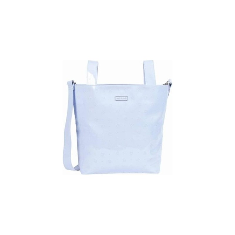 PASITO A PASITO - Shoulder Bag Pram Bag Light Blue Patent Leather