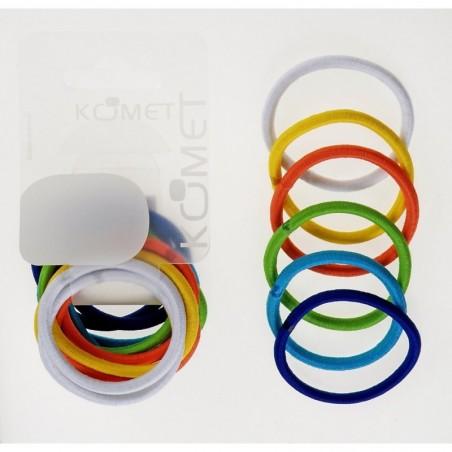 KOMET - Elastic Hair Band Colored 12 Pcs 455