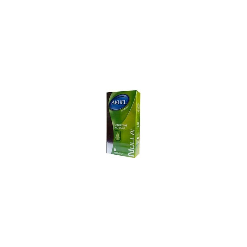 Akuel - Condoms Nulla Natural Feeling 1 Pack 6 Pieces