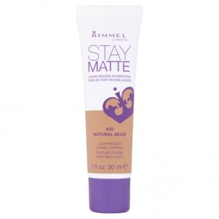 vendu dans le monde entier Acheter Authentic bon out x Rimmel - Stay Matte - Liquid Mousse Foundation n. 400 Natural Beige